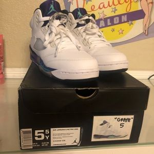 02453300632 Jordan Shoes | Vnds Nike Air Retro 5 Grape 55 Youth Boys | Poshmark